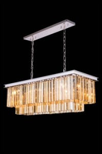 Elegant Lighting 1202D40PN-GT/RC Pendants Sydney 14in 12-light