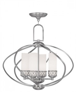 Livex Lighting 4724-91 Westfield Chandeliers 22in Brushed Nickel 4-Light