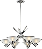 Picture for category Elk 1475/6 Refraction Chandeliers 26in Polished Chrome 6-light