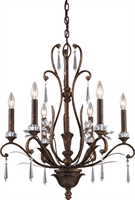 Picture for category Elk 2183/6 Emilion Chandeliers 23in Burnt Bronze 6-light