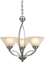 Picture for category Elk 7635/3 Elysburg Chandeliers 20in Satin Nickel 3-light
