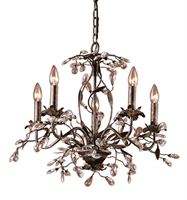 Picture for category Elk 8053/5 Circeo Chandeliers 21in Deep Rust 5-light