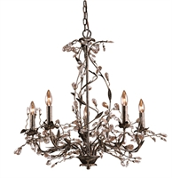 Picture for category Elk 8054/5 Circeo Chandeliers 34in Deep Rust 5-light