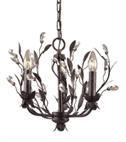 Picture for category Elk 8058/3 Circeo Chandeliers 16in Deep Rust 3-light