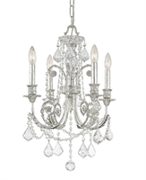 Picture for category Crystorama 5114-OS-CL-MWP Regis Mini Chandeliers 18in Olde Silver Wrought Iron