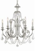 Picture for category Crystorama 5116-OS-CL-MWP Regis Chandeliers 26in Olde Silver Wrought Iron