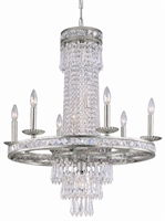 Picture for category Crystorama 5266-OS-CL-MWP Mercer Chandeliers 27in Olde Silver Wrought Iron