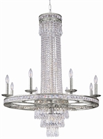 Picture for category Crystorama 5268-OS-CL-MWP Mercer Chandeliers 36in Olde Silver Wrought Iron