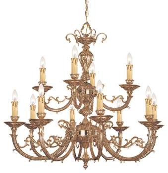 Picture of Crystorama Lighting 489-OB chandelier from etta collection