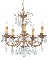 Picture for category Crystorama Lighting 495-OB-CL-MWP Chandeliers Etta
