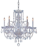 Picture of Crystorama Lighting 1005-CH-CL-MWP chandelier from traditional crystal collection