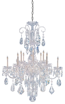 Picture of Crystorama Lighting 1045-CH-CL-MWP Chandeliers from the Traditional crystal   Collection