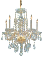 Picture for category Crystorama Lighting 1061-PB-CL-SAQ Chandeliers Traditional crystal