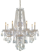 Picture for category Crystorama Lighting 1108-CH-CL-S Chandeliers Traditional crystal