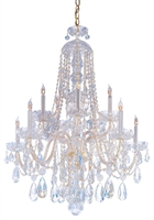 Picture for category Crystorama Lighting 1110-PB-CL-S Chandeliers Traditional crystal