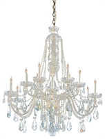 Picture for category Crystorama Lighting 1112-PB-CL-SAQ Chandeliers Traditional crystal