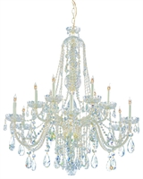 Picture for category Crystorama Lighting 1112-CH-CL-SAQ Chandeliers Traditional crystal