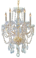 Picture for category Crystorama Lighting 1129-PB-CL-MWP Chandeliers from the Traditional crystal   Collection