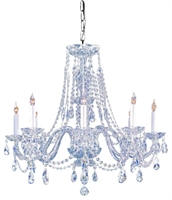 Picture for category Crystorama Lighting 1138-CH-CL-MWP Chandeliers from the Traditional crystal   Collection