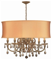 Picture for category Crystorama Lighting 2916-OB-SHG-GTM Chandeliers Brentwood