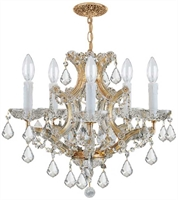 Picture for category Crystorama Lighting 4405-GD-CL-SAQ Chandeliers Traditional crystal