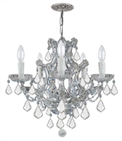Picture for category Crystorama Lighting 4405-CH-CL-SAQ Chandeliers Traditional crystal