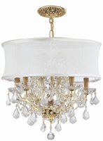 Picture for category Crystorama Lighting 4415-GD-SMW-CLQ Chandeliers Brentwood