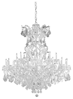 Picture for category Crystorama Lighting 4424-CH-CL-MWP Chandeliers Maria theresa