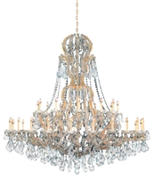 Picture for category Crystorama Lighting 4460-GD-CL-SAQ Chandeliers Maria theresa