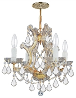 Picture for category Crystorama Lighting 4474-GD-CL-SAQ Chandeliers Maria theresa