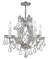 Picture for category Crystorama Lighting 4474-CH-CL-SAQ Chandeliers Maria theresa