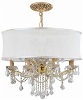 Picture for category Crystorama Lighting 4489-GD-SMW-CLQ Chandeliers Brentwood