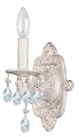 Picture for category Crystorama 5021-AW-CL-MWP Sutton Wall Sconces 7in Antique White Wrought Iron