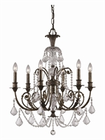 Picture for category Crystorama 5116-EB-CL-MWP Regis Chandeliers 26in English Bronze Wrought Iron