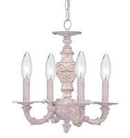 Picture for category Crystorama 5124-AW Abbie Mini Chandeliers 14in Autumn Brass Brass 4-light