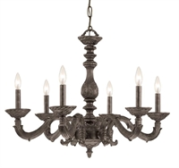 Picture for category Crystorama 5126-VB Abbie Chandeliers 28in Venetian Bronze Wrought Iron 6-light
