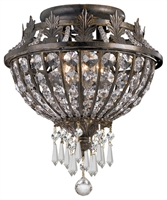 Picture for category Crystorama 5163-EB-CL-MWP Regis Semi Flush 11in English Bronze Wrought Iron