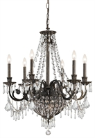 Picture for category Crystorama Lighting 5166-EB-CL-MWP Chandeliers Vanderbilt