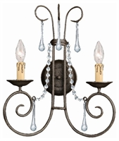 Picture for category Crystorama Lighting 5202-DR-CL-SAQ Wall Lantern Soho
