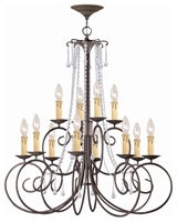 Picture for category Crystorama Lighting 5212-DR-CL-MWP Chandeliers Soho