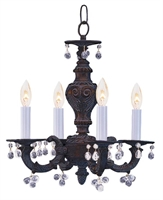 Picture for category Crystorama 5224-VB-CLEAR Abbie Mini Chandeliers 14in Venetian Bronze 4-light