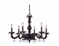 Picture for category Crystorama 5226-VB-CLEAR Abbie Chandeliers 28in Venetian Bronze Wrought Iron
