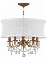 Picture for category Crystorama Lighting 5535-AG-SMW-CLQ Chandeliers Brentwood