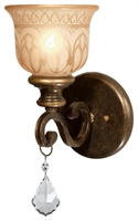 Picture for category Crystorama 7501-BU-CL-MWP Wall Sconces 7in Bronze Umber Wrought Iron 1-light