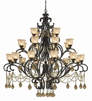 Picture of Crystorama 7518-BU-GT-MWP  chandelier