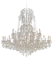 Picture for category Crystorama Lighting 4460-CH-CL-SAQ Chandeliers Maria theresa