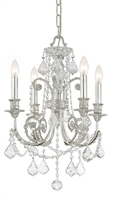 Picture for category Crystorama 5114-OS-CL-S Regis Mini Chandeliers 18in Olde Silver Wrought Iron