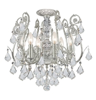 Picture for category Crystorama 5115-OS-CL-S Regis Semi Flush 20in Olde Silver Wrought Iron 6-light