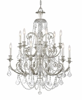 Picture for category Crystorama 5119-OS-CL-SAQ Regis Chandeliers 32in Olde Silver Wrought Iron