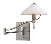 Picture for category Elk 10112/1 Swingarm Wall Sconces 7in Satin Nickel 1-light